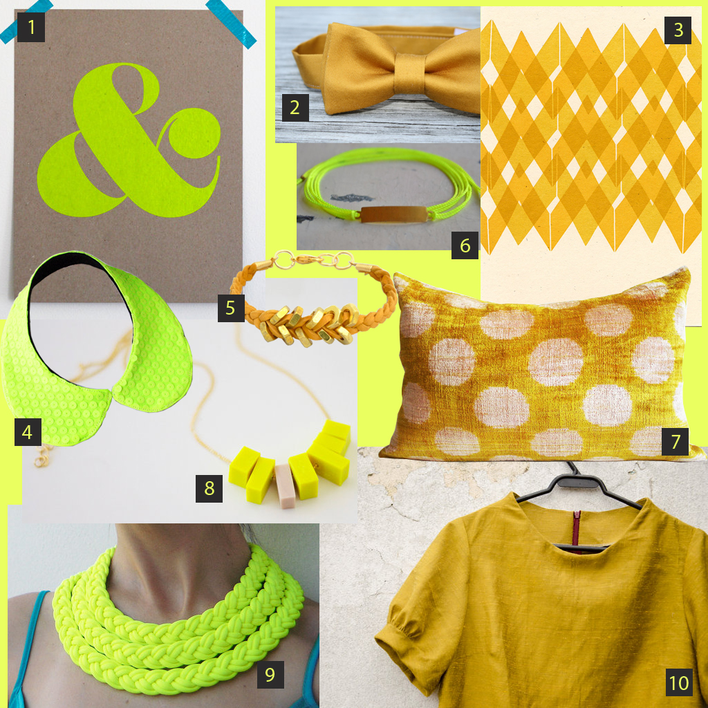 COLOR STORY | Neon Yellow & Mustard