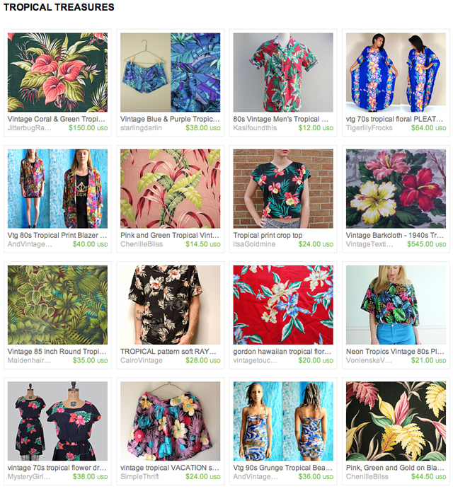 PATTERN STORY | Tropical Finds from Etsy