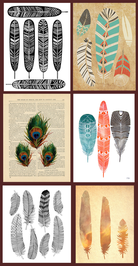 INSPIRATION | Feather Prints