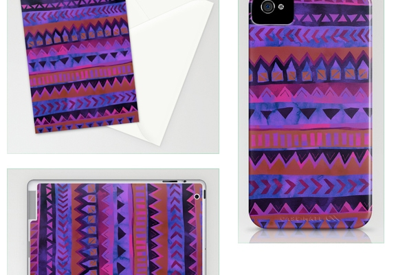 MY WORK | Tribal Stripe - Purple