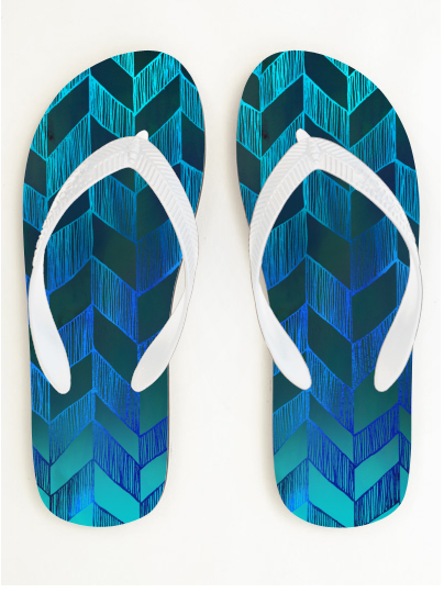 MY WORK | Chevron 013 flip flop