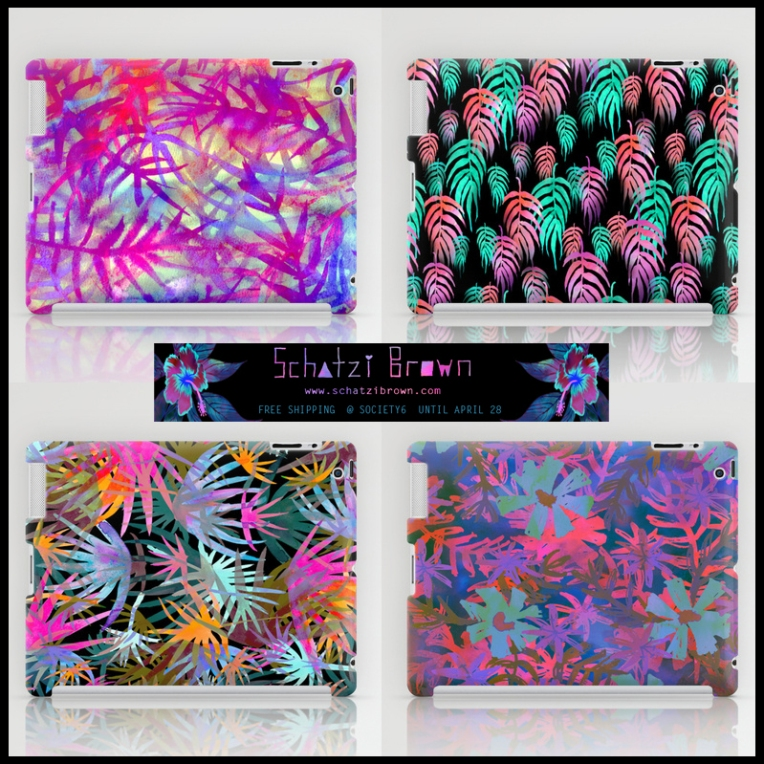 MY WORK | tropical ipad cases