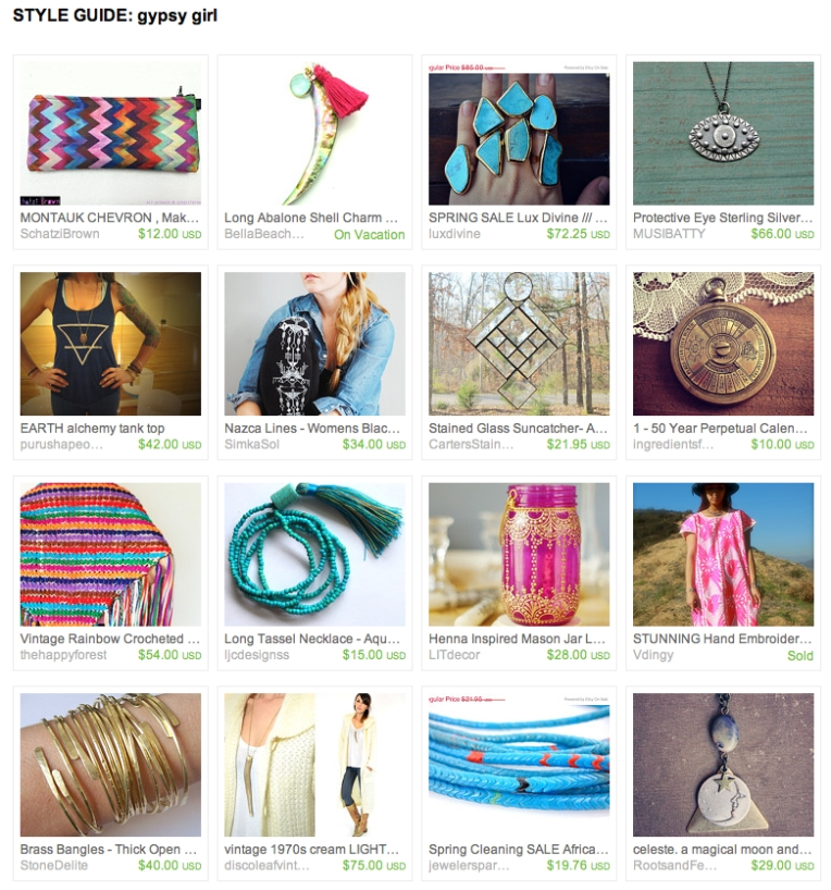 Style Guide - GYPSY SOULl- ETSY FINDS